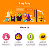 Scary Party Web Design Template