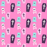 Trendy Colors Death Halloween Pattern
