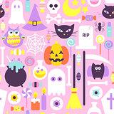 Trendy Style Halloween Seamless Pattern