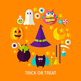 Trick or Treat Flat Concept