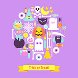 Trick or Treat Halloween Trendy Concept