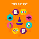 Trick or Treat Infographic Concept
