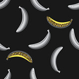 Banana fruit seamless pattern.