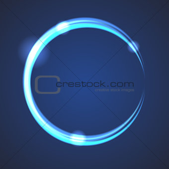 Glow effect eclipse circle vector.
