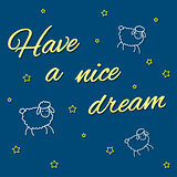 Have a nice dream card