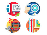 Climate control icons