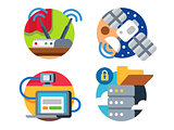 Internet technology icon set