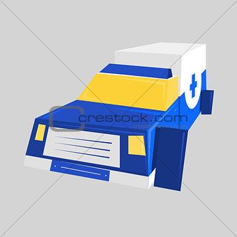 Car ambulance. Medical service, healthcare