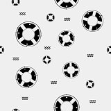 Seamless vector pattern with lifebuoys. Can be used for wallpaper, fills, web page background, surface textures.