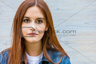 Beautiful Thoughtful Young Woman With Red Hair