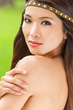 Beautiful Asian Chinese Woman Girl With Headband