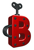 uppercase letter b with decorative pieces - 3d rendering