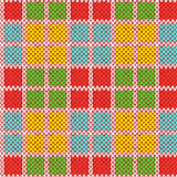 Knitting seamless pattern in various bright colors