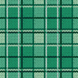 Knitting seamless pattern in cool green hues