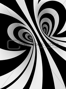 3D Spiral Background with Romantic Heart