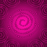 Purple seamless pattern with gradient dots spirals