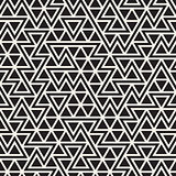 Vector Seamless Black And White Jumble Triangle Lines Pattern