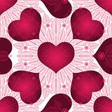 Valentine vintage seamless pattern