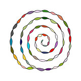 Colorful spiral pattern, sketch for your design