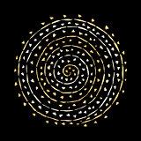 Floral spiral ornament, golden sketch for your design