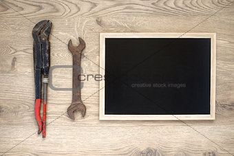 Old tools with copy space
