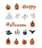 Great designed cartoon pumpkins for halloween