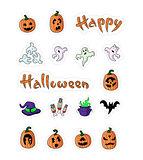 Great designed cartoon pumpkins for halloween