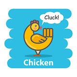 .Cute Cartoon Chicken