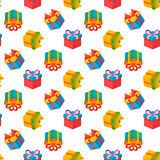 Vector gift pattern