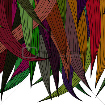 Abstract Colored Wave Pattern