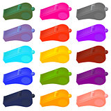 Colorful  Plastic Whistle