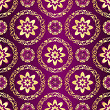 Floral purple seamless pattern