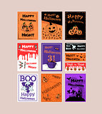 Great designed posters for halloween