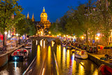 Night Amsterdam red-light district De Wallen