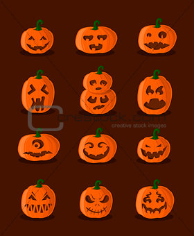 Great designed pumpkins for halloween