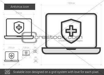 Antivirus line icon.