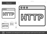 Http line icon.