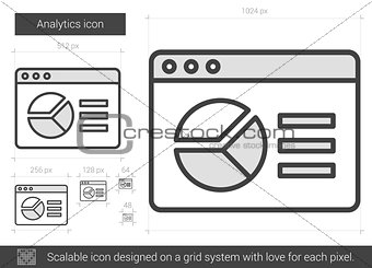 Analytics line icon.