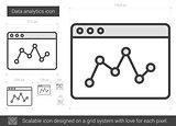Data analytics line icon.