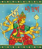 Goddess Durga in Subho Bijoya Happy Dussehra background