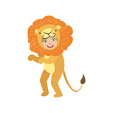 Boy In Lion Animal Costume