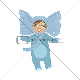 Boy Wearing Elephant Animal Costume