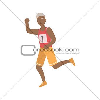 Old Man Running A Marathon