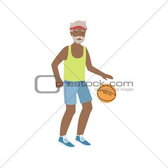 Old Man Playing Basketball
