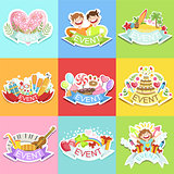 Event Template Labels Set Of Cute Stickers