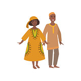 Couple In Maroccan National Clothes