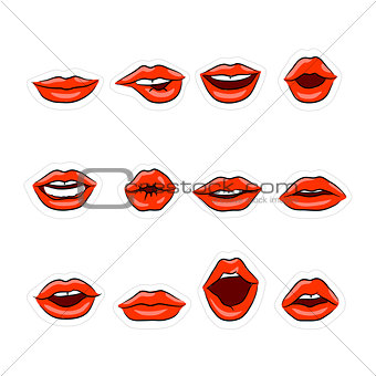Great vector designed lips