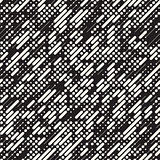 Vector Seamless Black and White Irregular Diagonal Dash Lines Pattern