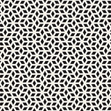 Vector Seamless Black and White Irregular Rhombus Grid Pattern