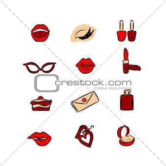 Great designed fashion woman vectors